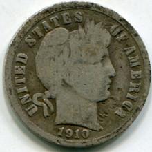 1910 Barber Dime VG