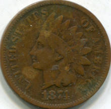 1874 Indian Cent VG-10