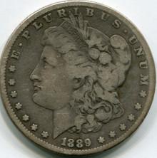 1889-CC Morgan Dollar F-15