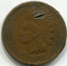 1870 Indian Cent Damaged