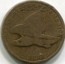 1858 Sm Date Flying Eagle Cent G