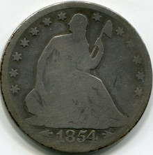 1854 Liberty Seated Half Dollar AG
