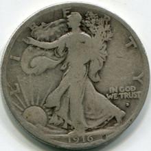 1916-D Walking Liberty Half Dollar G