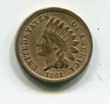 1861 Indian Cent F-12