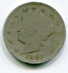 1893 (G) V Nickel