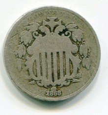 1868 (G) Shield Nickel