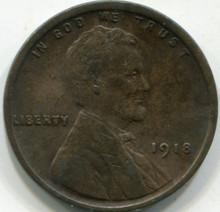 1918 (AU-50) Lincoln Cent