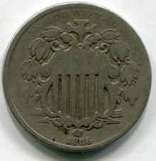 1866 Rays (AG) Shield Nickel