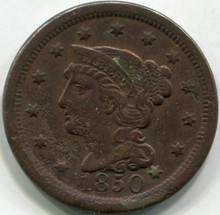 1850 Corroded (XF) Net F Large Cent