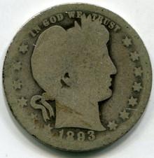 1893-O (AG) Barber Quarter
