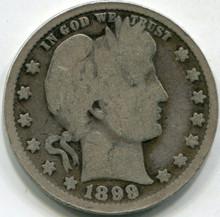 1899 (VG) Barber Quarter