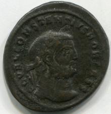 Constantius I As Caesae AE:Follis Cyzicus Mint 293-305 AD
