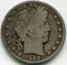 1906-O (VG10) Barber Half Dollar