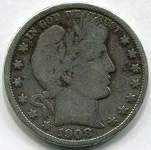 1908-D (VG) Barber Half Dollar