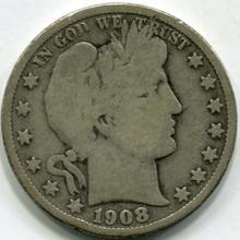 1908-O (VG) Barber Half Dollar