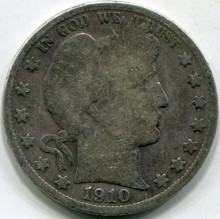 1910 (VG-10) Barber Half Dollar