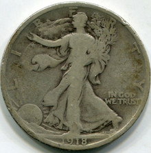 1918-D (VG) Walking Liberty Half Dollar