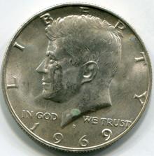 1969-D MS-64 Kennedy Half Dollar
