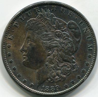 1889 AU-50 Morgan Dollar