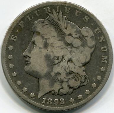 1892-CC F-12 Morgan Dollar