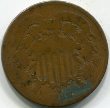 1865 (G) Two Cent Piece