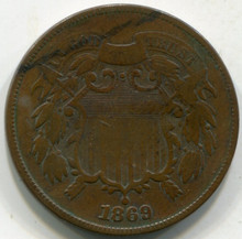 1869 (F) Two Cent Piece