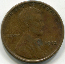 1912-S (XF-40) Lincoln Cent