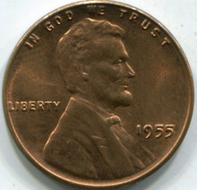 1955 (MS-63-RD) Lincoln Cent