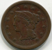 1851 (VF-30) Large Cent