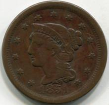 1851 (VF-30) Large Cent