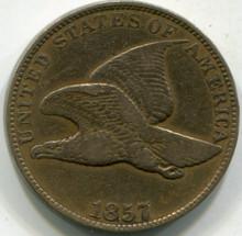 1857 (VF) Flying Eagle Cent