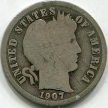 1907-S (VG) Barber Dime