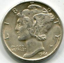 1944 (AU-55) Mercury Dime