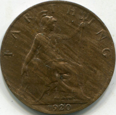 1920 Great Britain KM#808.2 (MS-60) Farthing