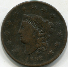 1832 Large Letter (VF) Large Cent