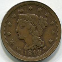 1849 (XF) Braided Hair Large Cent