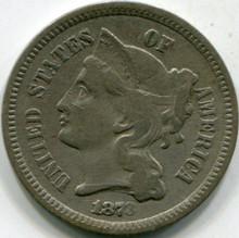 1873 CL. 3 (F-15) Three Cent Nickel