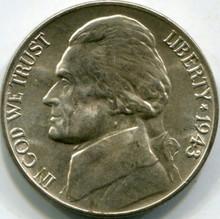1943-D Silver (MS-65) Jefferson Nickel