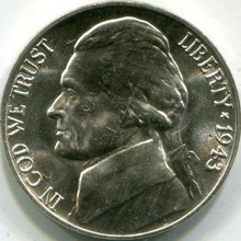 1943-P Silver (MS-65) Jefferson Nickel