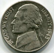1943-D Silver (AU) Jefferson Nickel