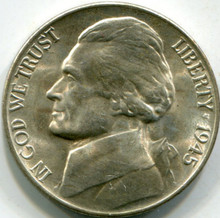 1945-D Silver (MS-64) Jefferson Nickel