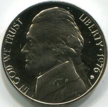 1976-S (PF-65) Jefferson Nickel