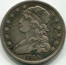 1834 (VF-30) Bust Quarter