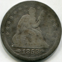 1853 Arrows & Rays (F-15) Liberty Seated Quarter