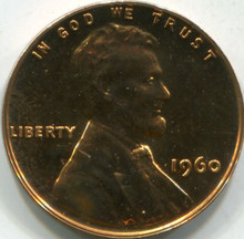 1960 Small Date (PF-63 RD) Lincoln Cent