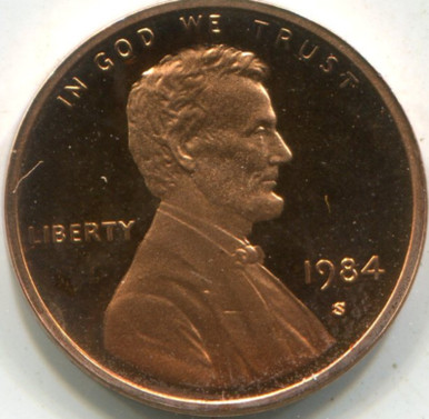 1984 (PF-69 DCam) Lincoln Cent