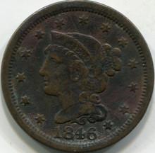 1846 Med. Letter (XF) Large Cent