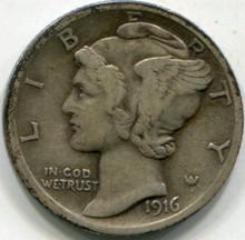 1916 (XF) Mercury Dime
