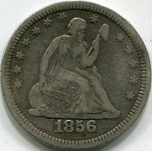 1856 (F-15) Liberty Seated Quarter