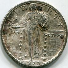 1920-S Porch (XF) Details Standing Liberty Quarter